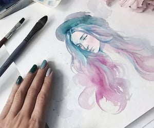 aesthetic, hair, and paint image