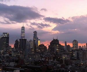 evening, new york, and night image