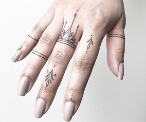 tattoo, art, and hand image