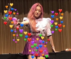 reaction pictures, love memes, and loona image