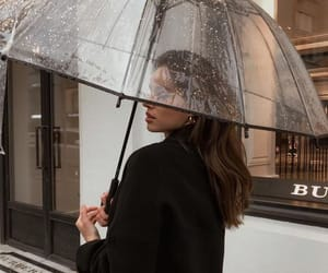 girl, fashion, and rain image