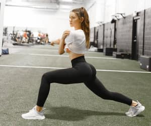 exercise, girl, and gym image