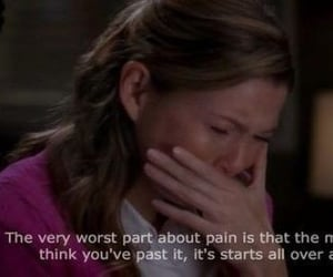 mcdreamy, meredith grey, and pain image