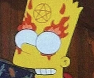 simpsons, Devil, and grunge image
