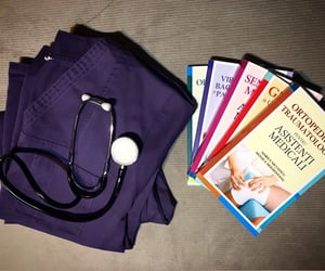 books, graduation, and nurse image