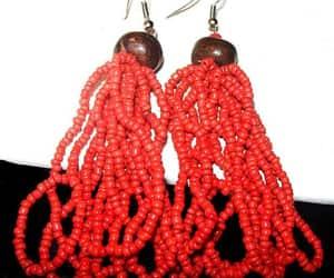 etsy, hippie earrings, and coral earrings image