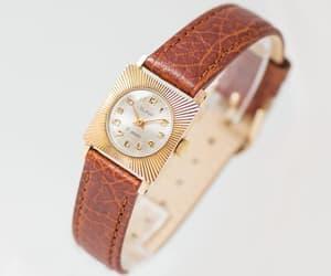 etsy, sunburst women watch, and mechanical watch image