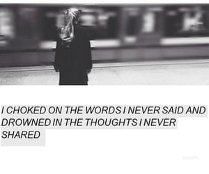 quotes, drown, and sad image