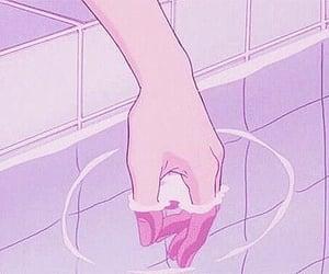 kawaii, purple, and pink image