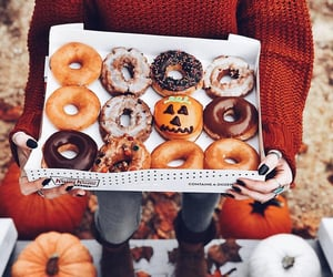autumn, donuts, and doughnuts image