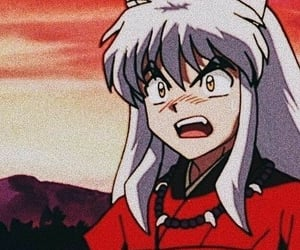 anime, couple, and inuyasha image