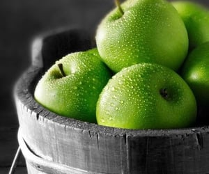 apple, green, and fruit image