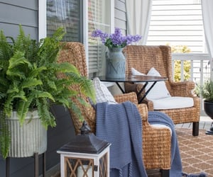 porch and wicker chair image