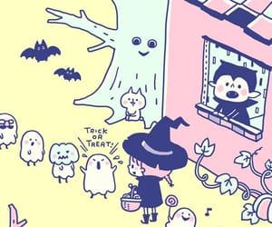 bird, bunny, and Halloween image