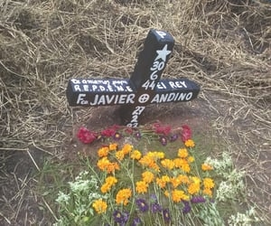 black, flores, and cementerio image