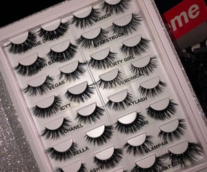 beauty, storage, and lashes image
