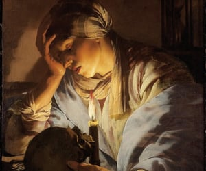 Mary Magdalene, vintage art, and melancholia image