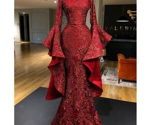 evening gown, women fashion, and mermaid evening dress image