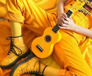 girl, guitar, and guittar image