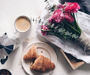 breakfast, croissant, and coffee image
