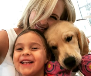dog, candice king, and family image