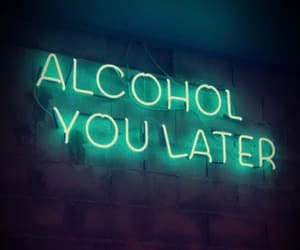 neon, alcohol, and light image
