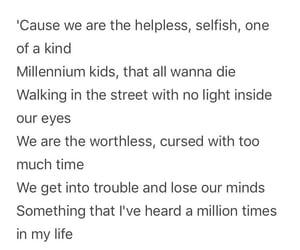 helpless, kids, and Lyrics image