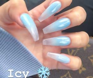 blue, nails, and nails art image