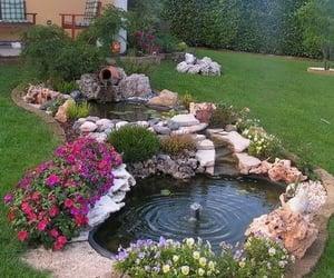 backyard, creating, and Ponds image