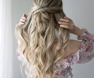 aesthetic, long hair, and blond image