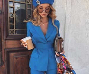 fashion, blue, and beautiful image