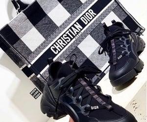 bag, black, and black sneakers image