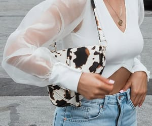 blouse, fashion, and gold image