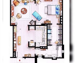 apartment, Carrie Bradshaw, and floor plan image