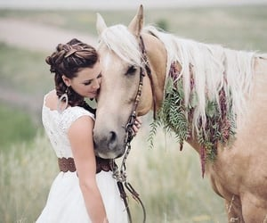 beauty, friendship, and horse image