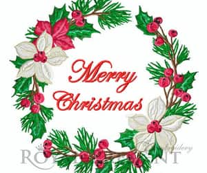 christmas, embroidery design, and etsy image
