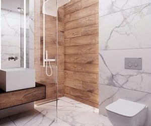 bathroom, marble, and shower image