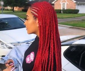 braids, dye, and fashion image