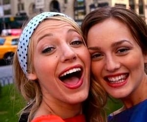 blair waldorf, blake lively, and friendship image
