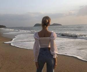beach, bun, and fashion image