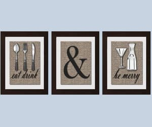 etsy, shabby chic decor, and eat drink be merry image