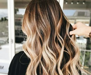 beautiful hair, hair trend, and dyed hair image