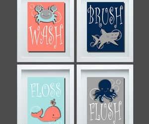 etsy, bathroom wall decor, and kids bathroom art image