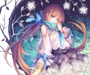 anime, snow, and snowflakes image