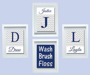 etsy, personalized name, and bathroom wall decor image
