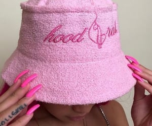 ghetto, girl, and pink image