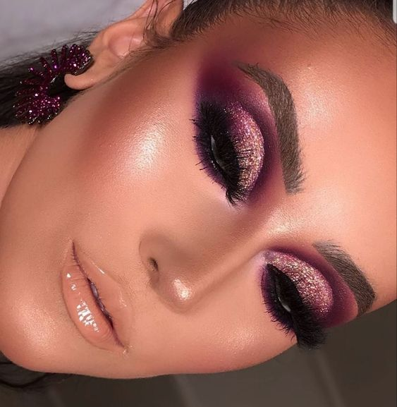 aesthetic, pink makeup, and makeup inspo image