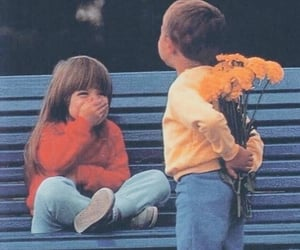 love, child, and flowers image