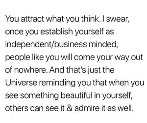 black and white, empowering, and law of attraction image