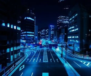blue, city, and aesthetic image